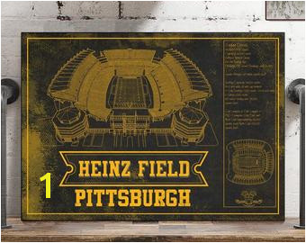 Pittsburgh Steelers Stadium Art Heinz Field NFL Football Print