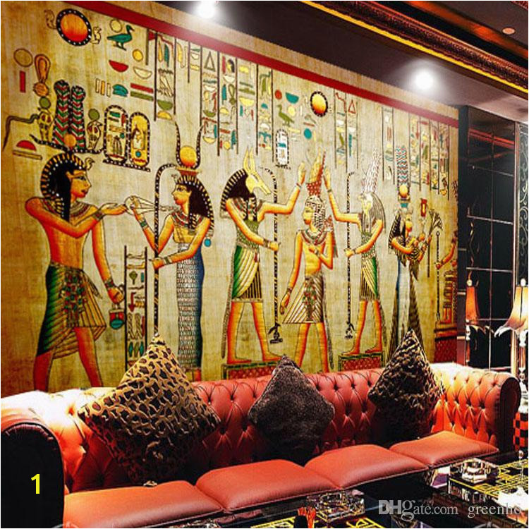 Historic Wallpaper Murals Egyptian Wall Painting Vintage Wallpaper Custom 3d Wall Murals