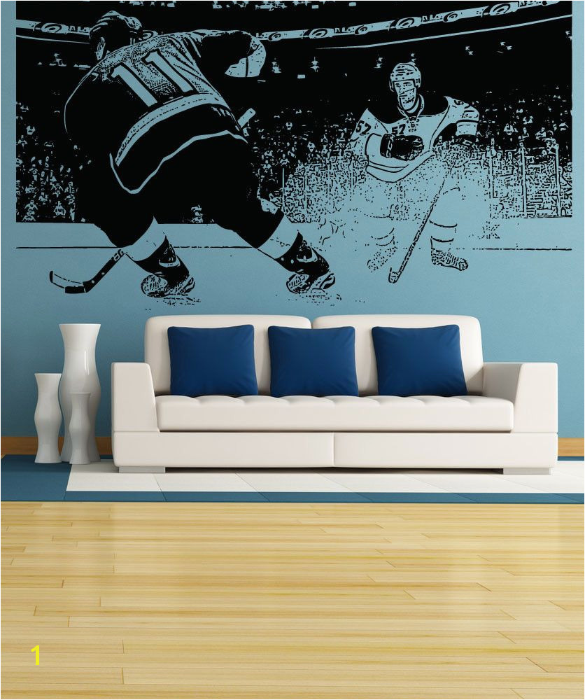 Vinyl Wall Decal Sticker Hockey Game 5088 Hockey Bedroom Kids Room Wall Stickers