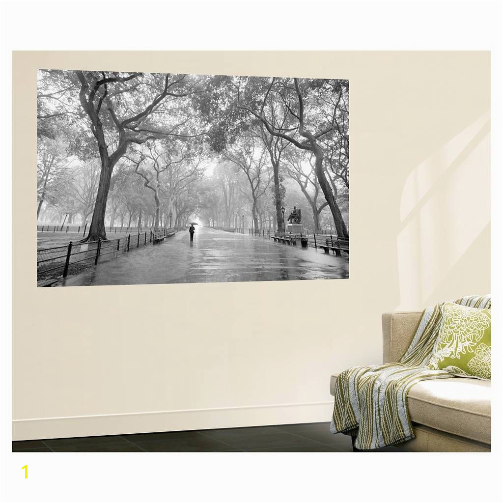 Hollywood Sign Wall Mural Art Wallpaper Mural New York City Poet S Walk Central Park by
