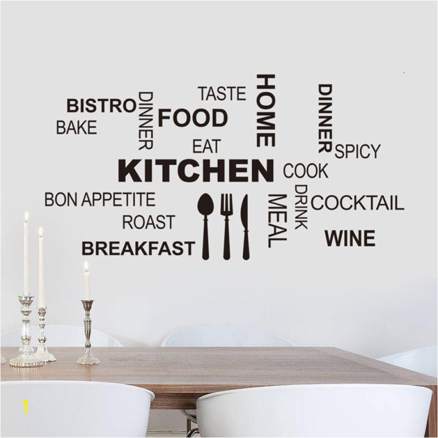 Wallpaper Sticker Kitchen Letter Removable Vinyl Wall Stickers Mural Decal Quotes Art Home Decor Wallpapers For Living Room B