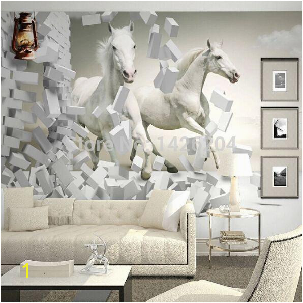 Great Wall 3d White Horse Wall Murals Wallpaper 3d Horse Custom Wall Paper Murals For Living Room Freewallpaper Freewallpapers From Binbin3 $55 48 DHgate