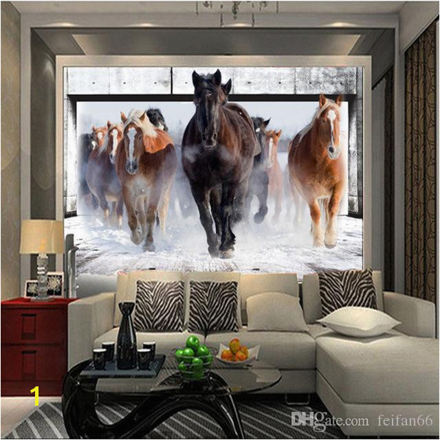 Wallpaper Horse White Horse Mural Continental Back Wall Sofa Bedroom TV Backdrop 3d Mural Wall Paper Living Room Music Wallpaper Naruto