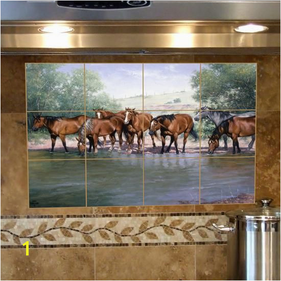 Another idea for a kitchen or bathroom backsplash These tiles are fabulous if you love western items