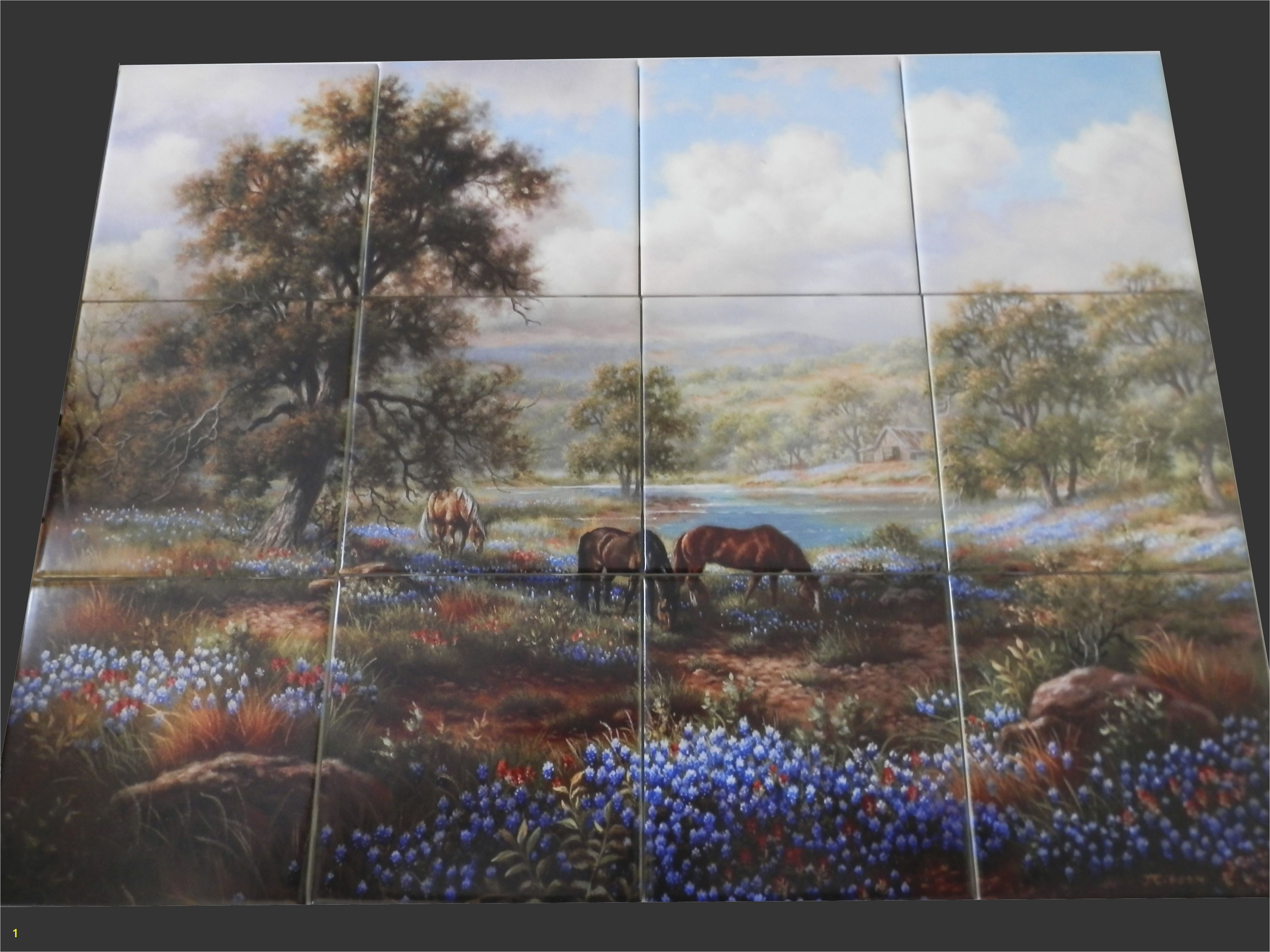 Horse Tile Murals Pin by Linda Reddoch On Country Texas Home Decor In 2019