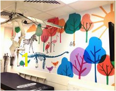 Beautiful cheerful wall mural for examination room in Children s hospital by Jenny Bowers Wonderful
