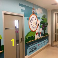 Tamworth Regional Referral Hospital The Imaginarium Kids Mural Project Entrance graphic Tamworth Murals