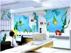 Emergency Area Fish Under Water Kids Mural Wall Miller Children s Hospital Long Beach California