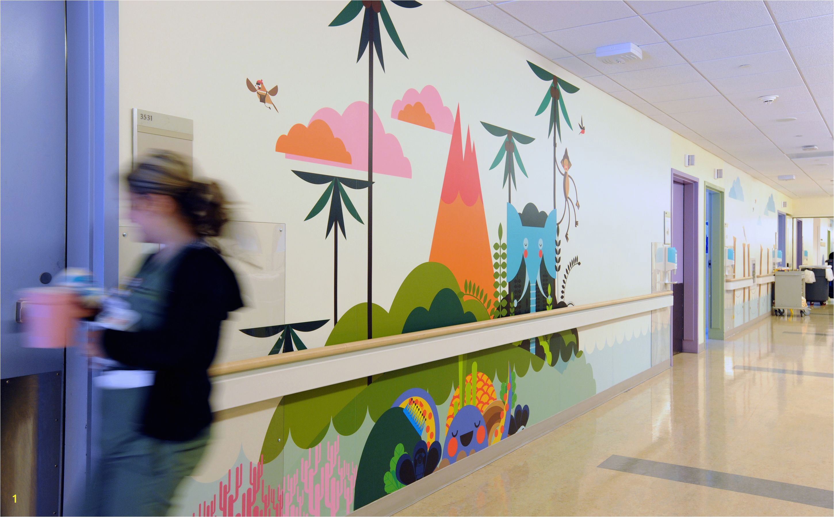 Hospital Wall Murals Mattel Children S Hospital Phase 2 In 2019