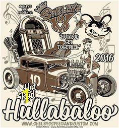 Hot Rod Hullabaloo 2016 T shirt cream
