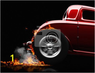 Choose a wall mural hot rod burnout buggy hot rod burnout on a black PIXERS wall murals made of great fabrics Choose artistic photos from our