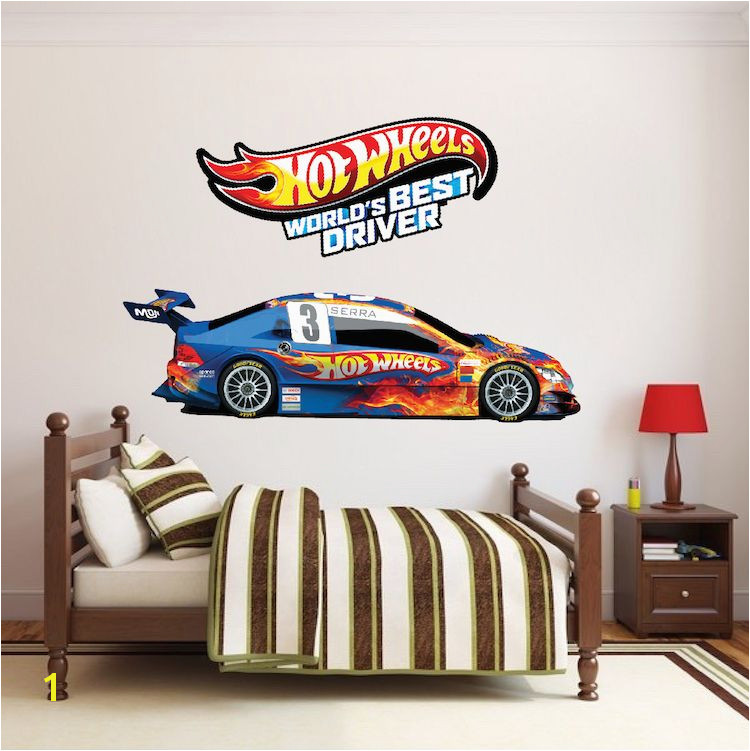 Hot Wheels Wall Mural Hot Wheels Boys Room Decals Hot Wheels Wallpaper Kids Room Wall
