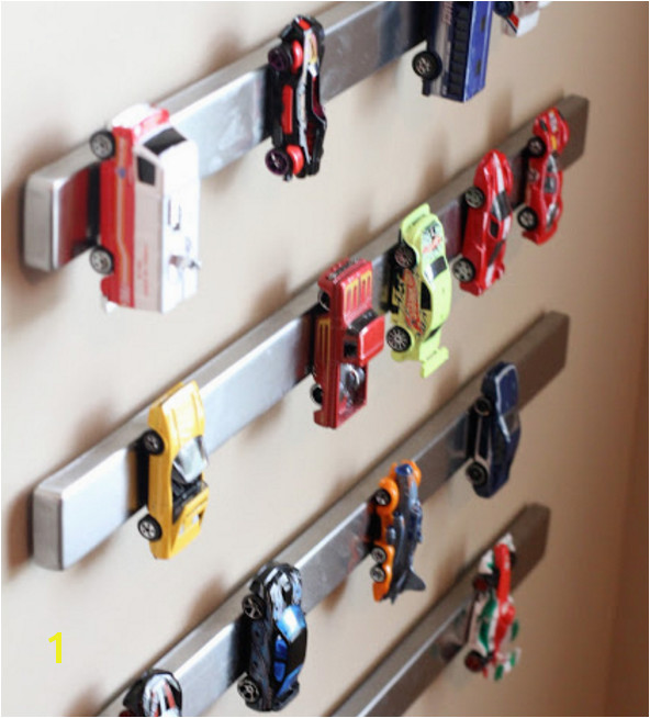 Magnet the Hot Wheels to the wall and stop stepping on them