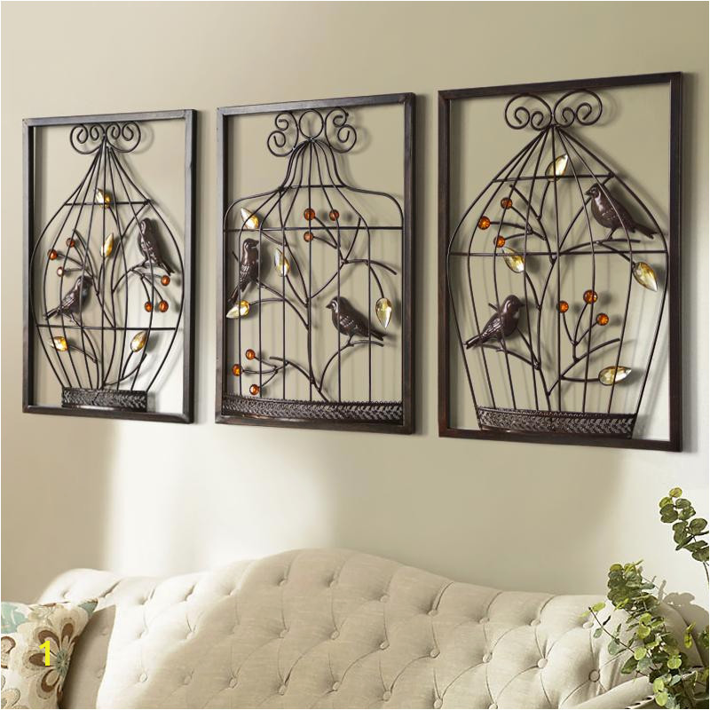 How to Hang A Wall Mural 2019 Bird Flower Iron Cage Wall Mural Creative Home Furnishing