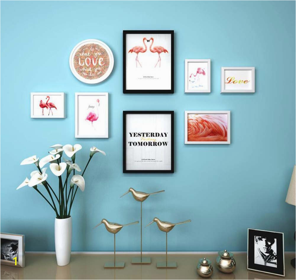 How to Hang A Wall Mural Fly 8 Picture Frame Wall Decoration Mural Bination Tv