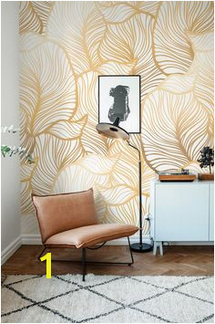 GREY Leaf Wallpaper Exotic leaves Wallpaper leaf Wall Mural Home Décor Easy install Wall Decal Removable Wallpaper B013