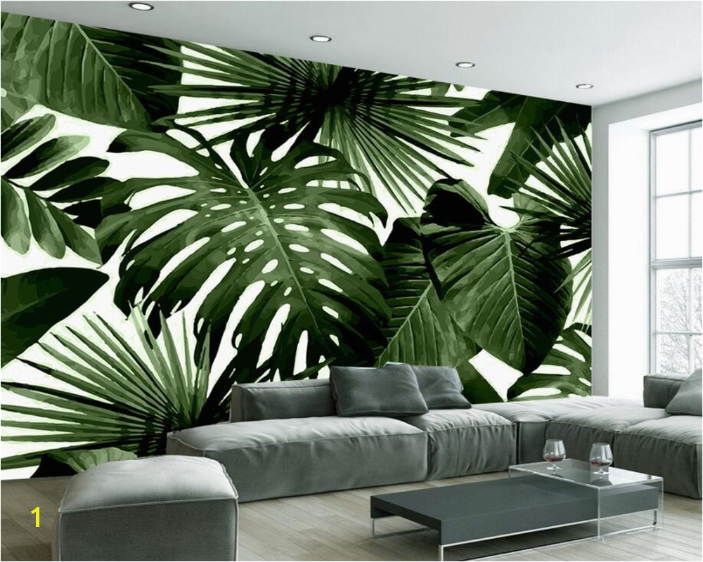 How to Make A Photo Into A Wall Mural Beibehang Custom Wallpaper Living Room Bedroom Murals Retro Tropical