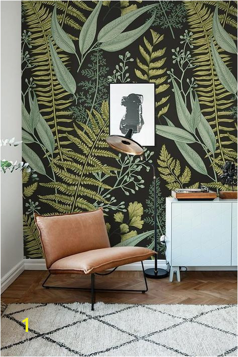 Botanical Wallpaper Ferns Wallpaper Wall Mural Green Home easyhomedecor