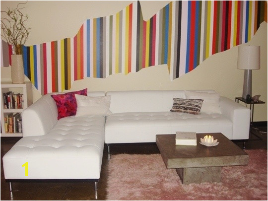 Christina s Colorful Stripe DIY Wall Mural supergraphic