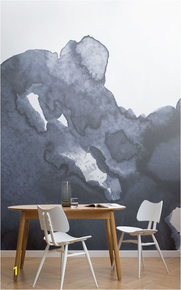 Deep Blue Waves Watercolour Wall Mural in 2018 Home Decor Pinterest