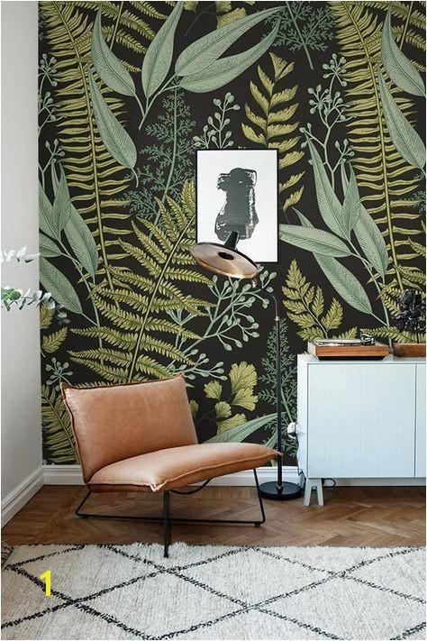 Botanical Wallpaper Ferns Wallpaper Wall Mural Green Home easyhomedecor