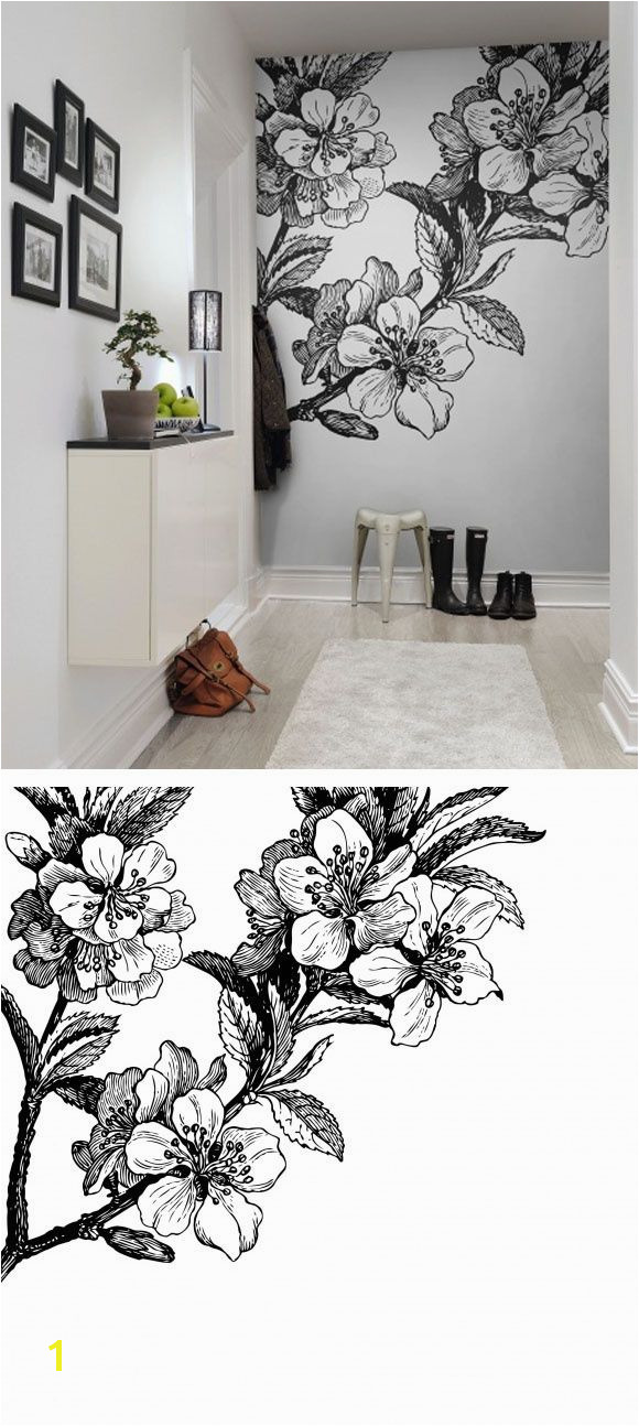 Make sure the spring is always with you with wallpaper Springtime black from rebelwalls