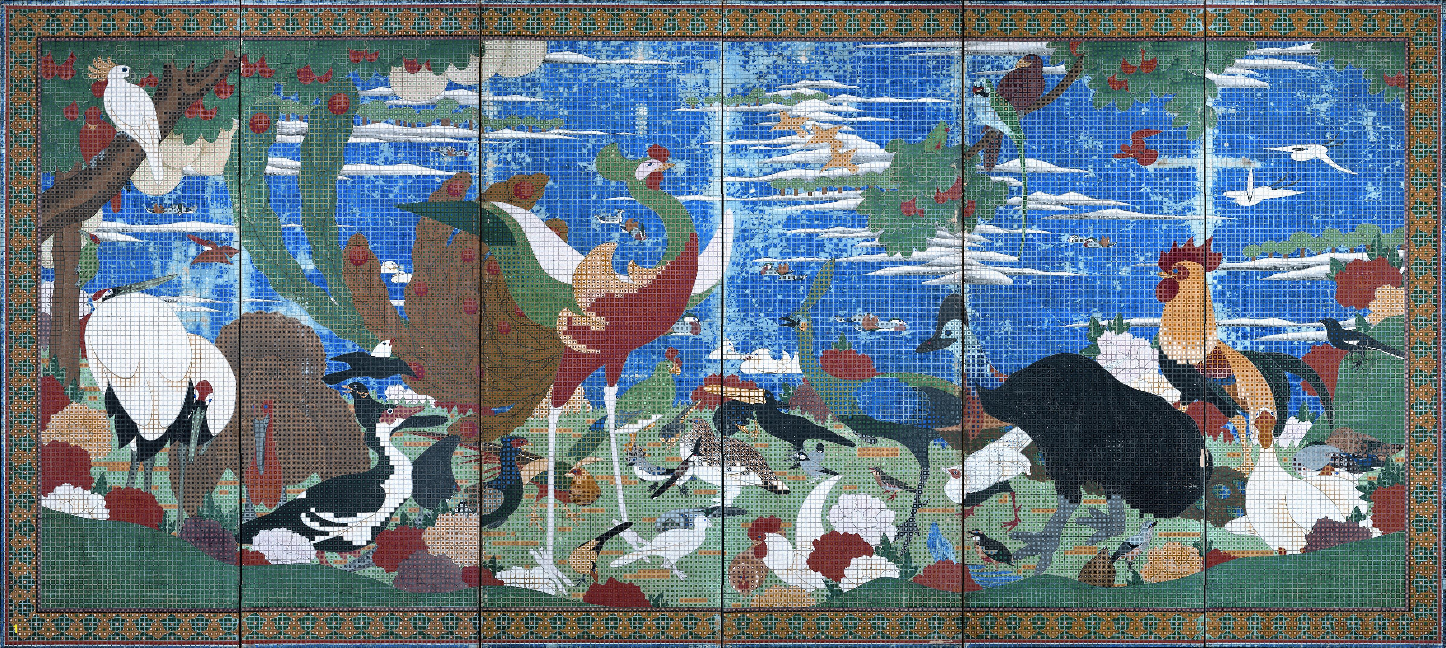 How to Make An Outdoor Mosaic Mural How An American Collector Brought Jakuchu to tohoku