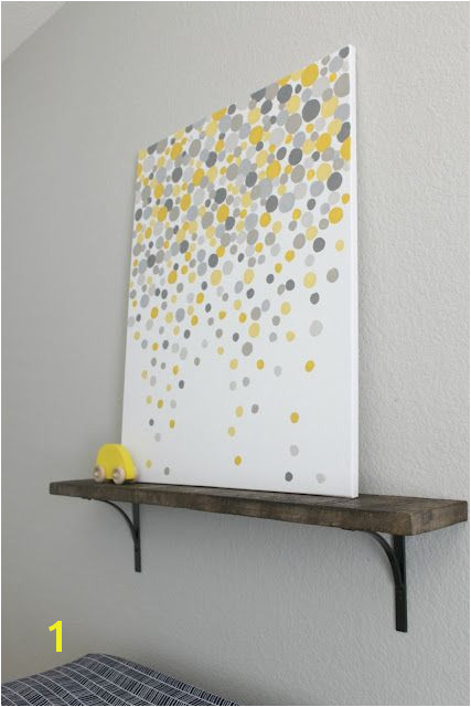 The artist used her fingers to paint the circles Can do any colors you want Ideas Simple Wall Art