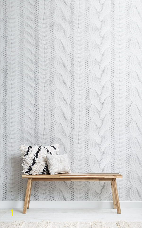 How to Make Wall Murals White Knit Texture Wallpaper Mural Muralswallpaper