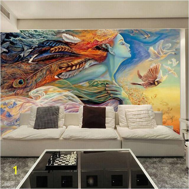 Custom Mural Wallpaper 3D Abstract Figure Graffiti Painting Cinema Bar KTV Bedroom Sofa TV Background Home Decoration Wallpaper