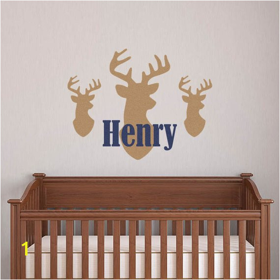 Deer Wall Decal Deer Head Decal Hunting Nursery Deer Nursery Buck Wall Decal