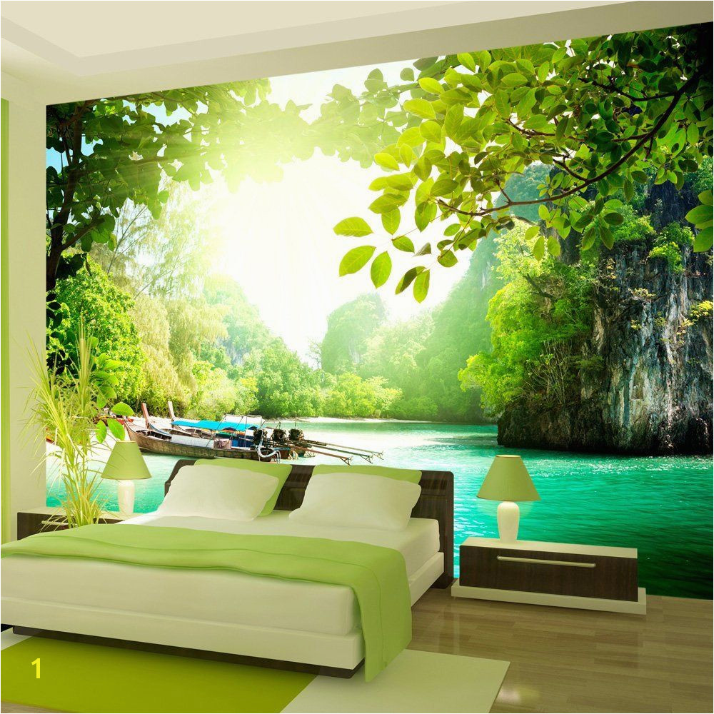 Wallpaper 300x210 cm Non woven Murals Wall Mural 3D modern nature landscape 19 Amazon DIY & Tools