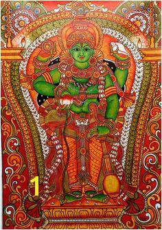 Guruvayappan kerala mural style painting Kerala Mural Painting Tanjore Painting Traditional Paintings