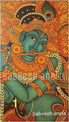 Kalamkari Painting Saree Painting Kerala Mural Painting Madhubani Painting Baby Krishna