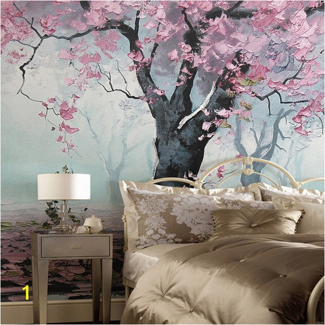 Custom Murals 3D Indoor Flower Design Murals Retro Style Oil Painting Wallpapers Roll Bedroom Living Room Papel De Parede
