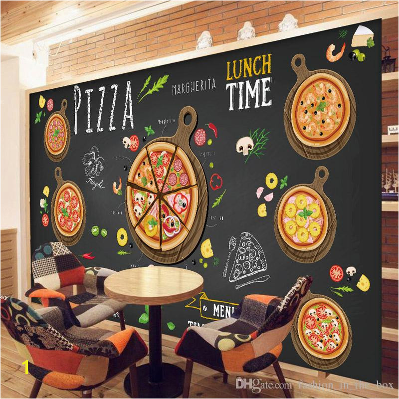 Custom 3D Wallpaper For Walls 3D Pizza Shop Wall Mural Coffee Bread Wallpaper Restaurant Dinning Cafe Wall Covering Kitchen Room Decor Natural Wallpapers
