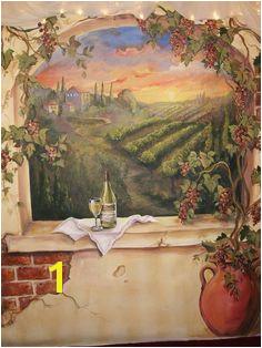 Custom Murals Italian Vineyard landscape MURAL by MariasIdeasArt $99 00 Italian Vineyard Tuscan Art