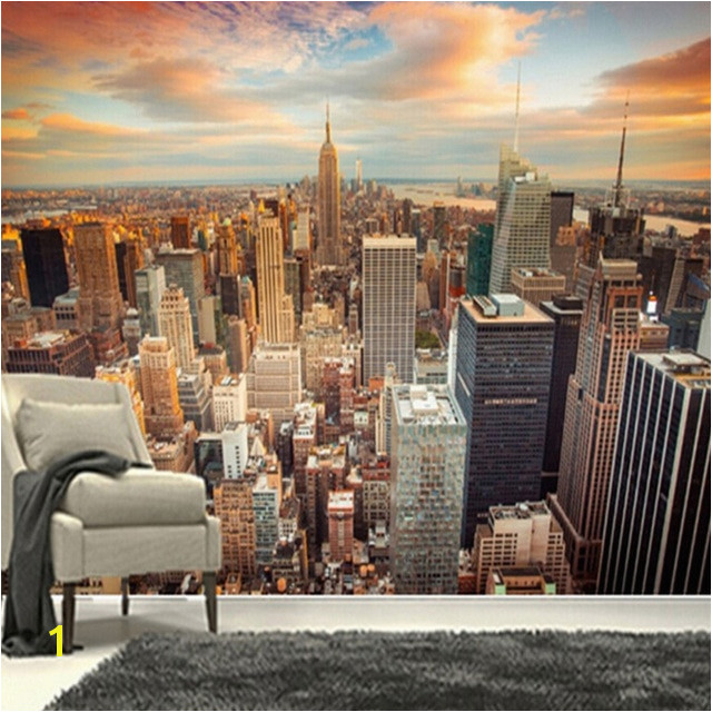3D Wallpaper Modern Sunset New York City Building Landscape Mural Study Living Room TV Sofa Backdrop Wall Home Decor Wall Papers