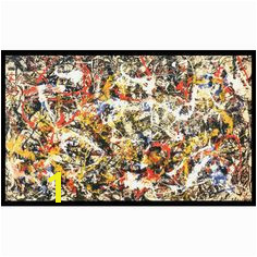 Convergence by Jackson Pollock Framed Painting Print