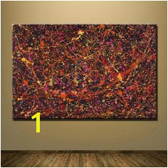 [PRINT CANVAS] Splatter Paintings Inspired by Jackson Pollock Abstract painting