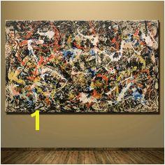 [PRINT CANVAS] Convergence Jackson Pollock – MonkeydeArt Jackson Pollock Convergence Jackson Pollock