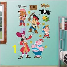 Disney Jake & the Never Land Pirates Character Wall Decals by Fathead Multicolor Pirate Bedroom