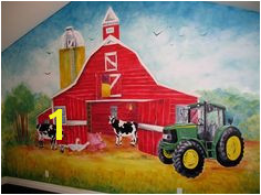 This could be the coolest barnyard and JOHN DEERE wall that I have ever seen