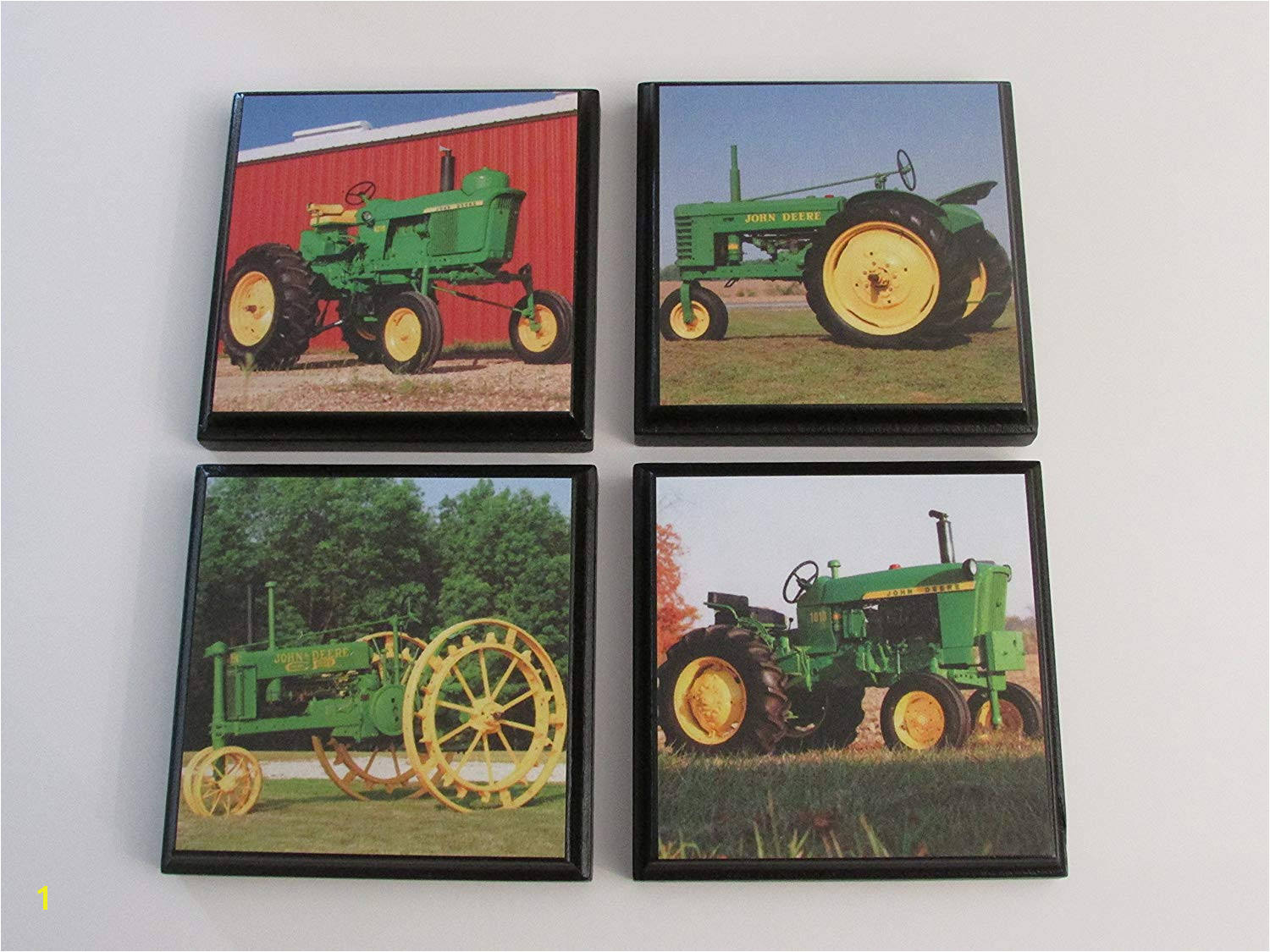Get Quotations · Green Tractor John Deere Room Wall Plaques Set of 4 John Deere green tractor boys
