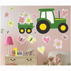 John Deere Pink Giant Wall Decals Multi Colored