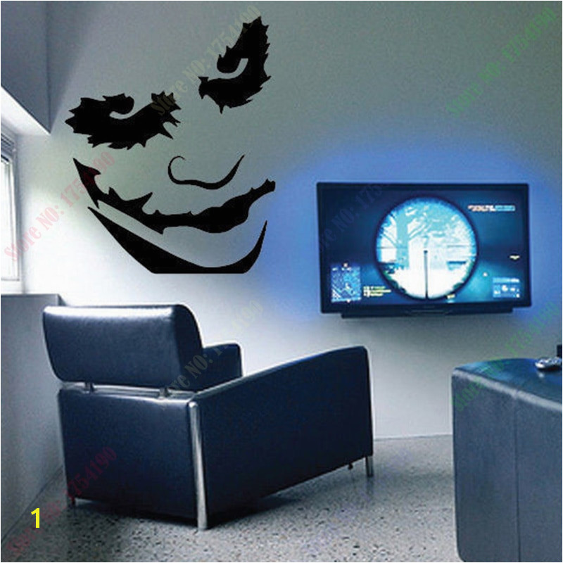Free Shipping LARGE THE JOKER HEATH LEDGER BATMAN WALL ART STICKER KIDS BEDROOM CHILDREN