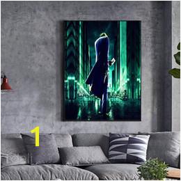 Unframed Dark Knight Rises Joker Card Batman HD Digital Printing Canvas Oil Painting Home Wall Art Decoration posters