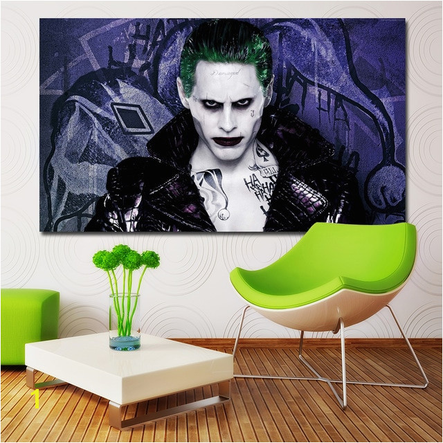 Suicide Squad Jared Leto Joker Movie Figure Printing Posters Wall Art Picture For Home Decoration Canvas Printing Unframed