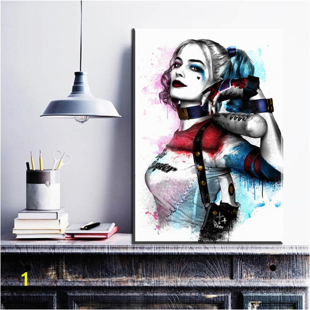 ZZ1095 Wall Modern Movie Batman Joker Harley Quinn Canvas Painting Art Print Poster Picture Wall Paintings Home Decoration