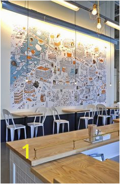 """ e Girl Cookies Mural""A Jumbo wall map and illustration for e Girl Cookies"